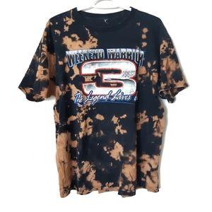 Bleached Black and Brown Racing Tshirt